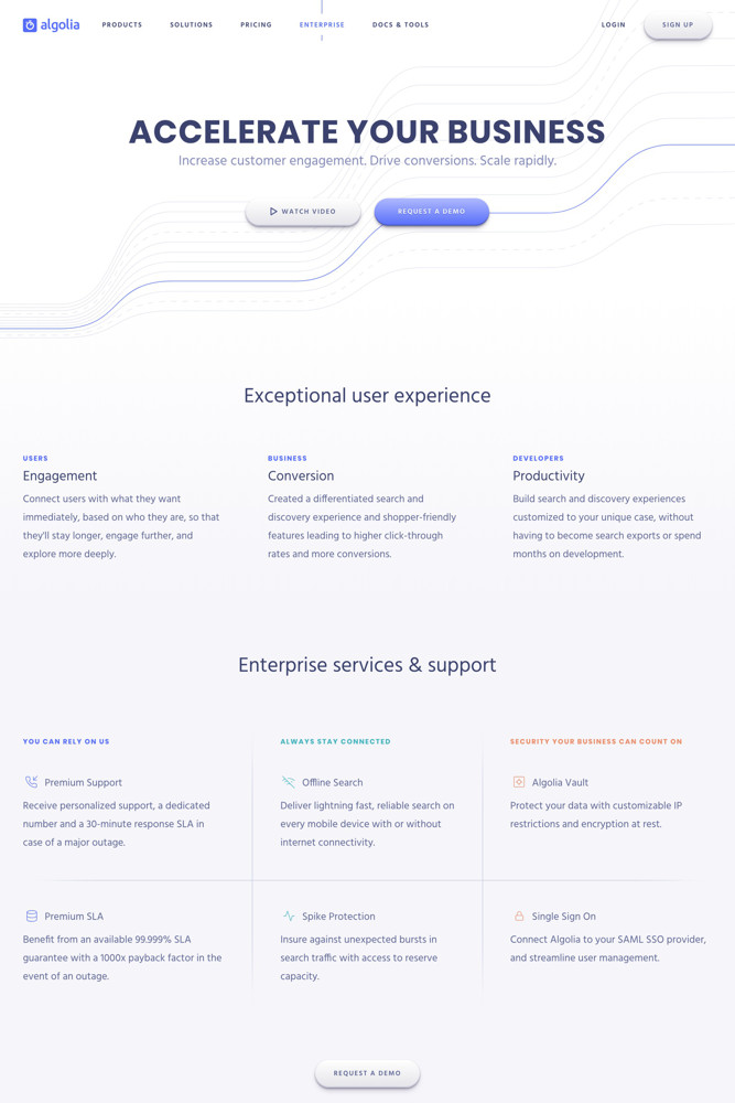 Algolia For business screenshot