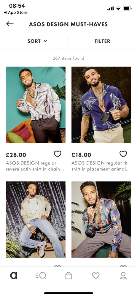 Asos Category screenshot
