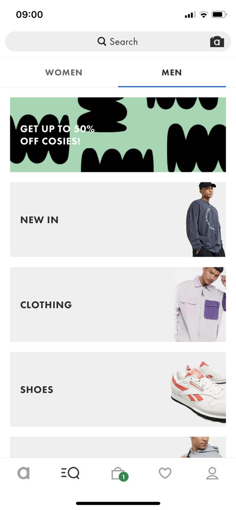 Asos Search screenshot