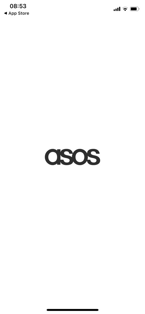 Asos Splash screen screenshot