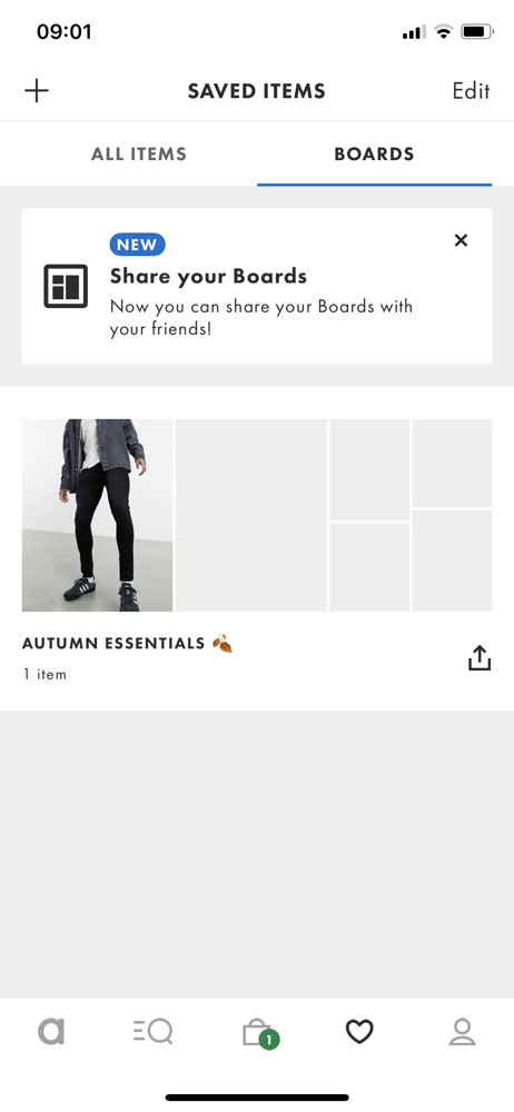 Asos Boards screenshot