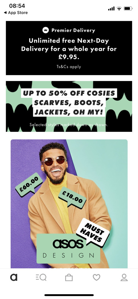 Asos Home screenshot