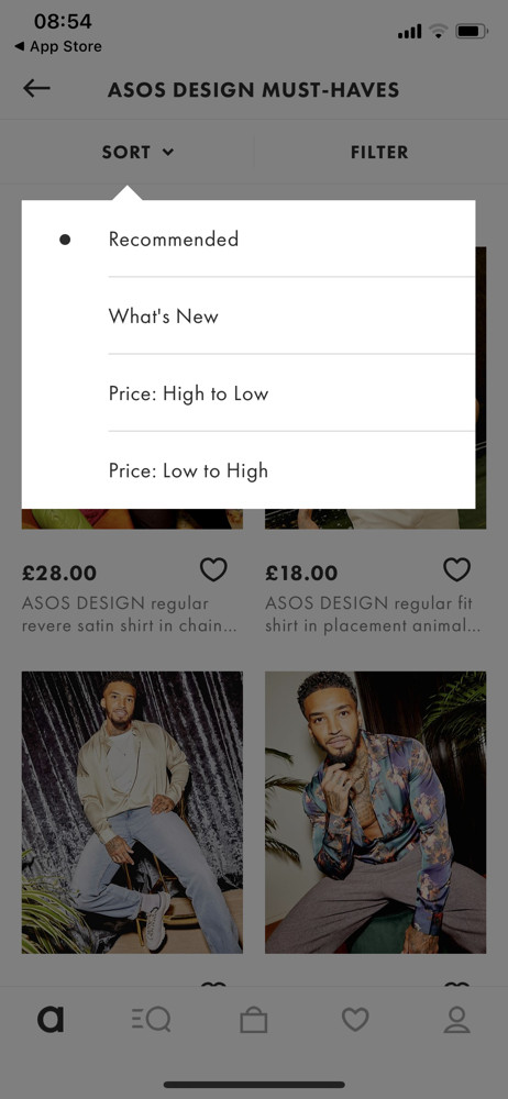 Asos Sort screenshot