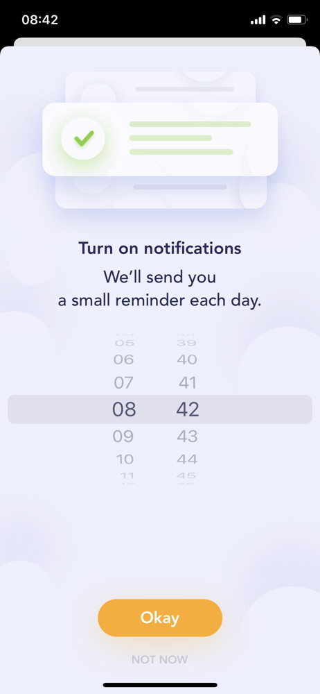 Breeze Enable notifications screenshot