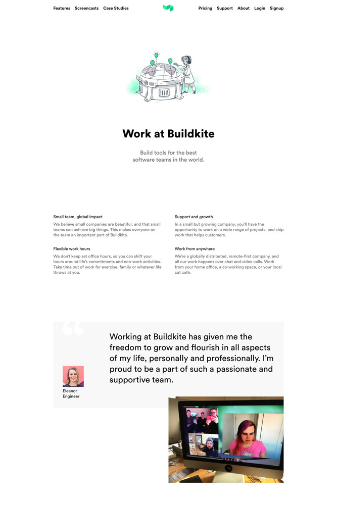 Buildkite Careers screenshot