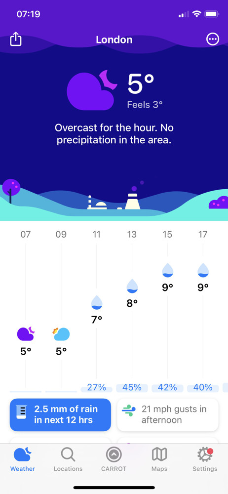 Carrot weather Weather screenshot