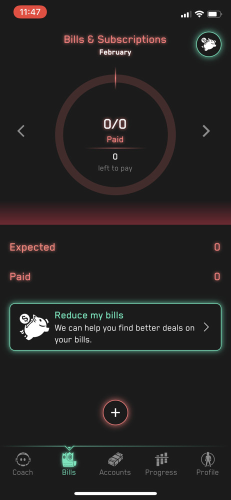 Cash Coach Bills screenshot