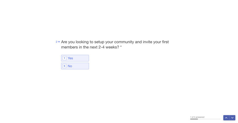 Circle Survey question screenshot