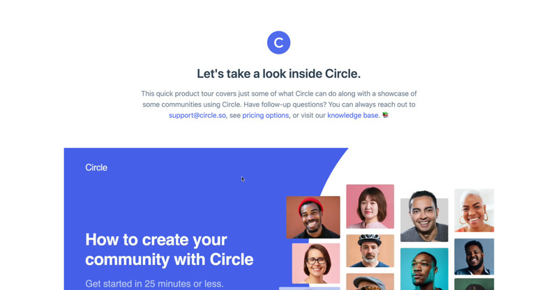 Circle Video demo screenshot
