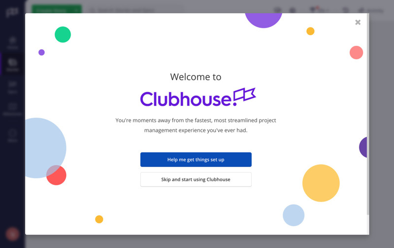Clubhouse Welcome screenshot