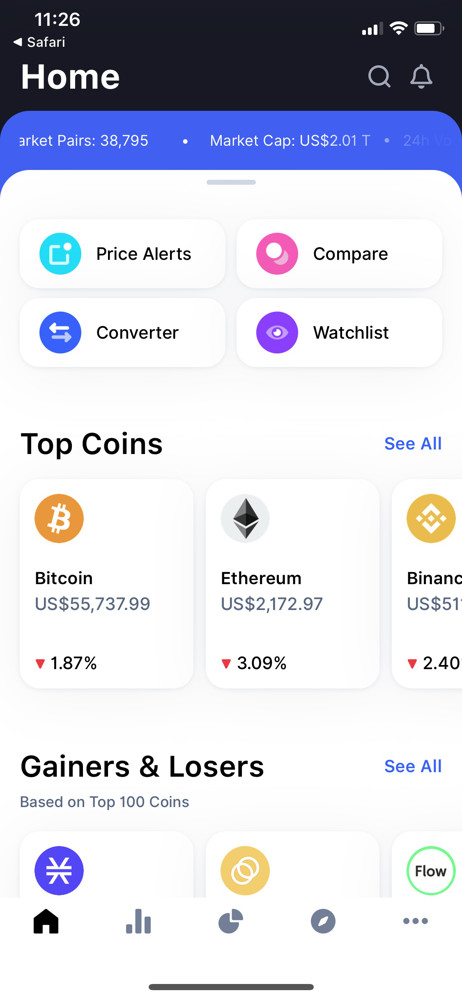 CoinMarketCap Home screenshot