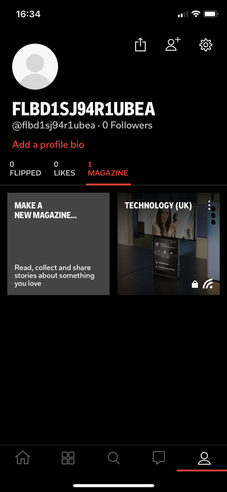 Flipboard profile screenshot