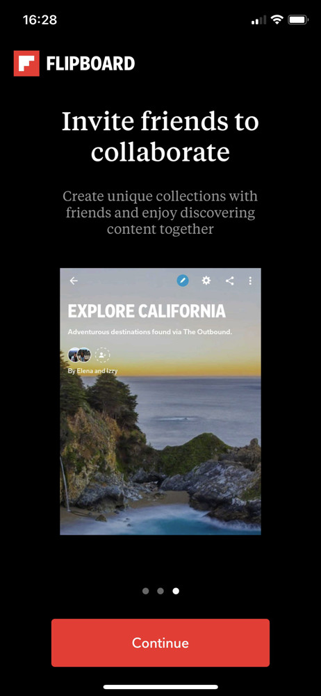 Flipboard welcome slides screenshot