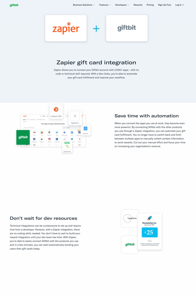 Giftbit Integrations screenshot