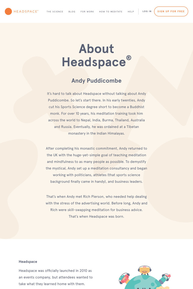 Headspace About screenshot