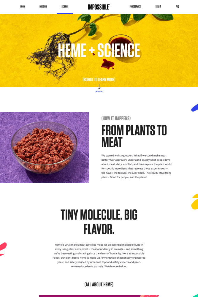 Impossible Foods Product screenshot