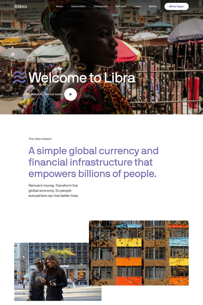 Libra Landing page screenshot