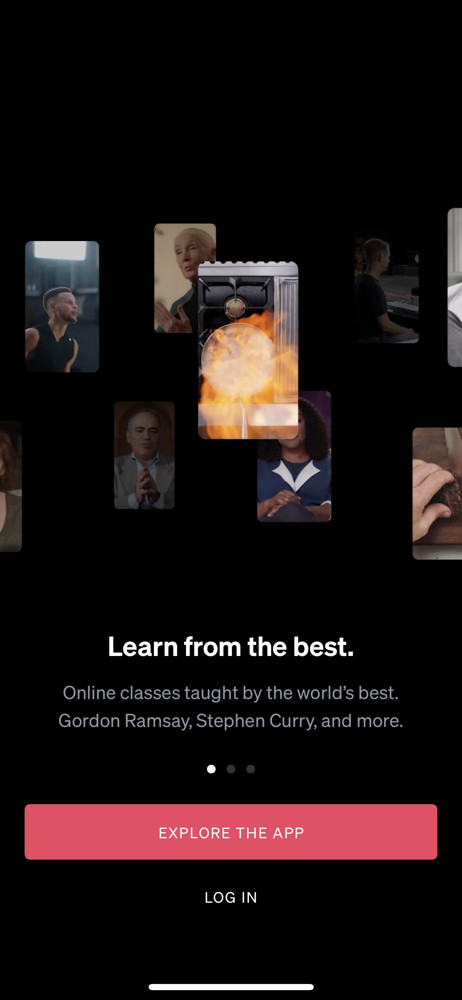 Masterclass Start screen screenshot
