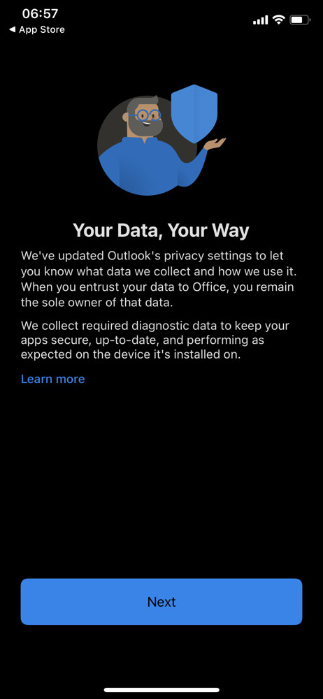 Microsoft outlook updates screenshot
