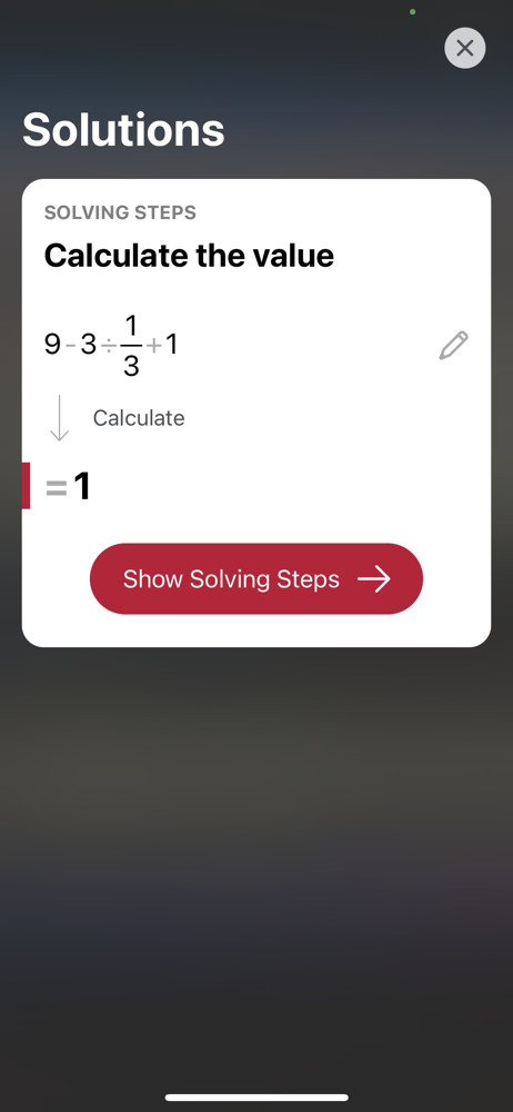 Photomath Solutions screenshot