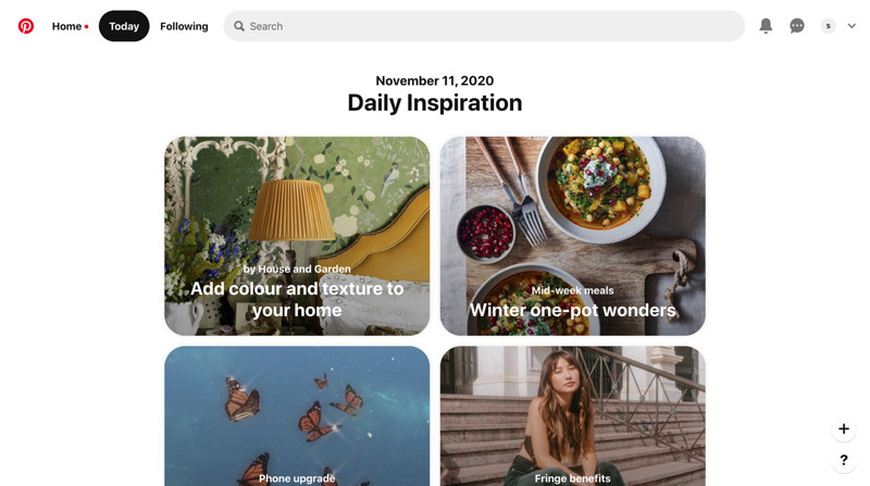 Pinterest Daily feed screenshot