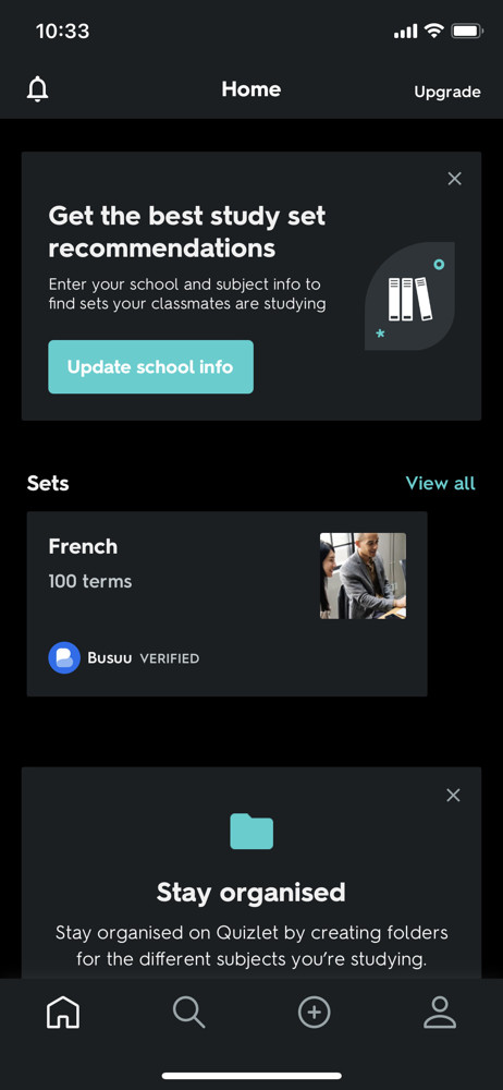 Quizlet Home screenshot