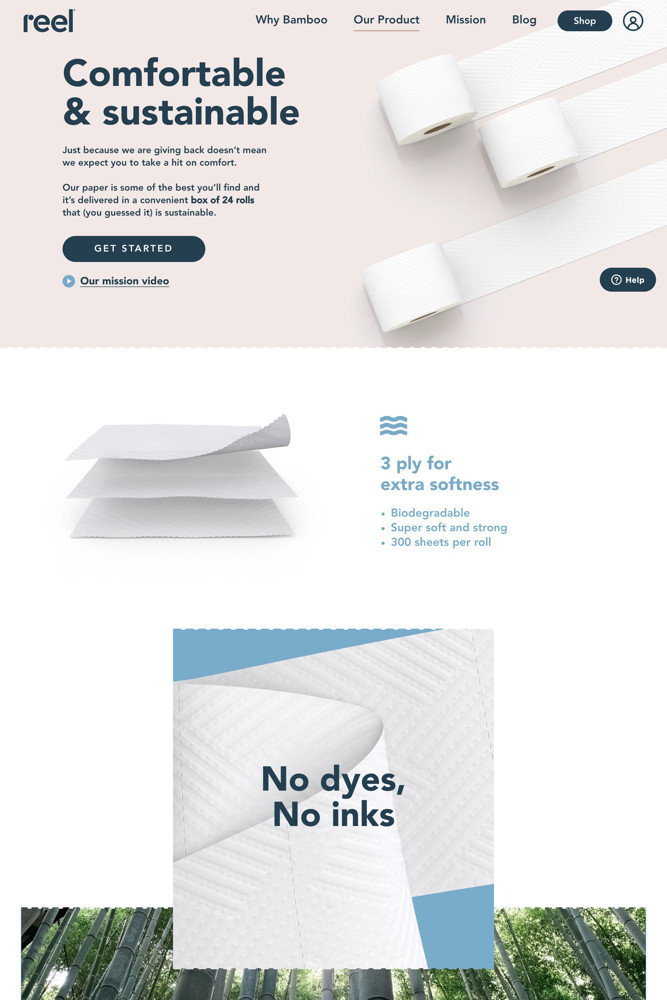 Reel paper Product screenshot