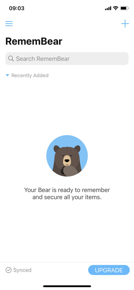 Remembear Password manager screenshot