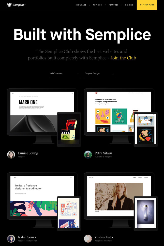 Semplice Customers screenshot