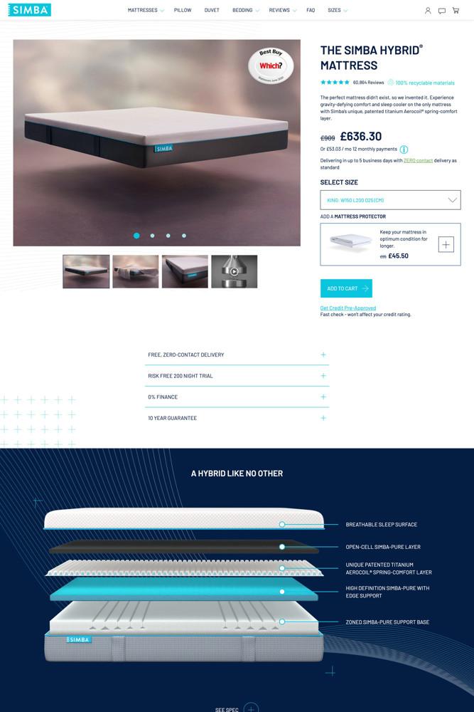 Simba product screenshot