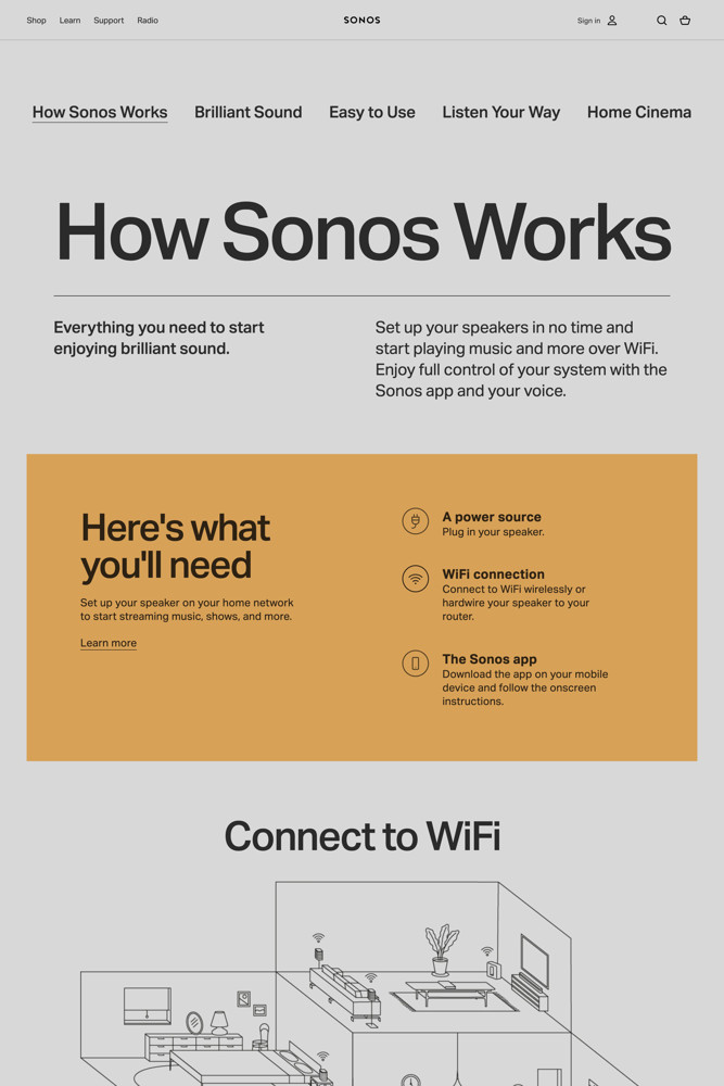Sonos Features screenshot