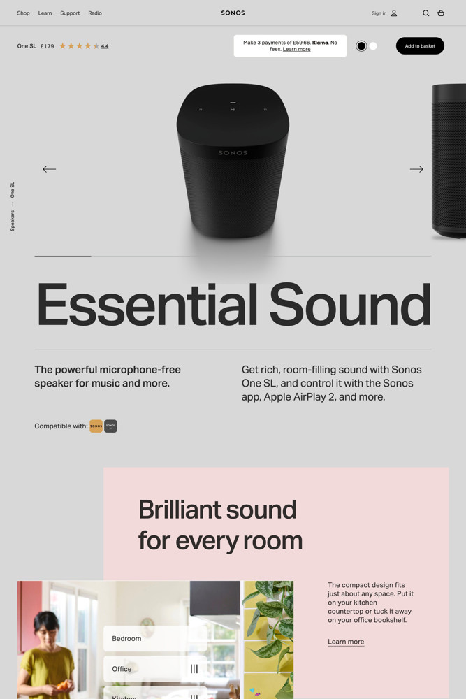 Sonos Product screenshot