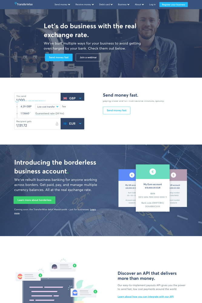 TransferWise For business screenshot