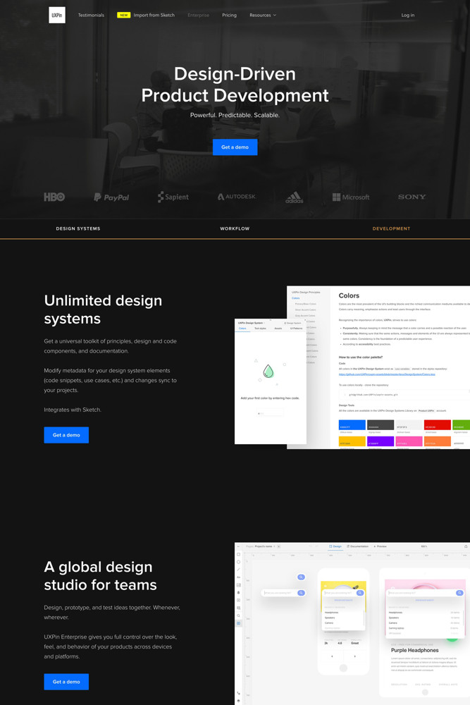 UXPin For business screenshot