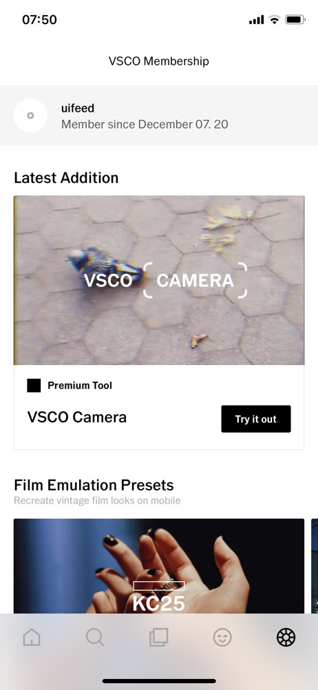 VSCO Membership screenshot